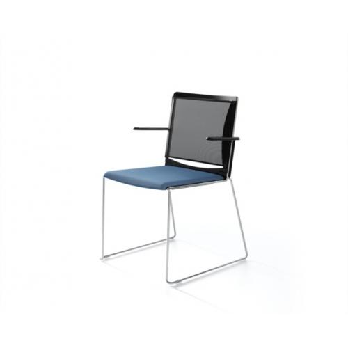 Konferencinių kėdžių linija MULTI su tinkleliu
